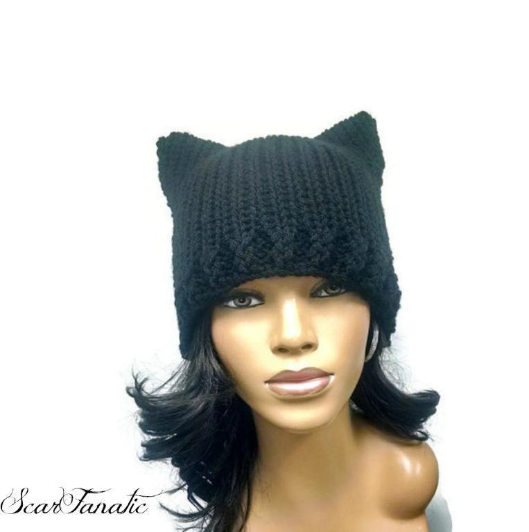 Easy Loom Knit Cat Ears Beanie | La la la