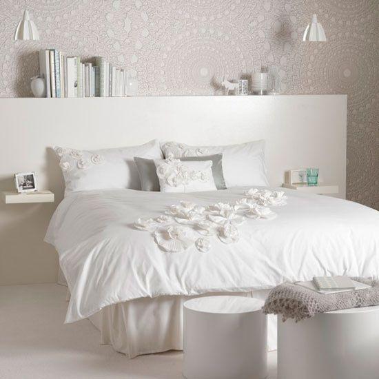 schlafzimmer weiß NG Schlafzimmer Pinterest Schlafzimmer weiß - wandgestaltung landhausstil wohnzimmer