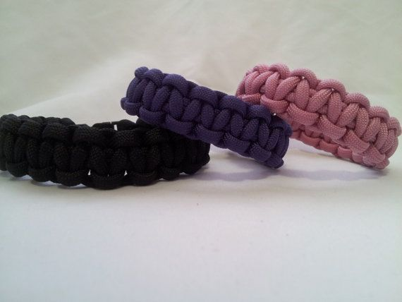 Paracord Bracelet in Many Colors by JenvyAccessories on Etsy, $6.50