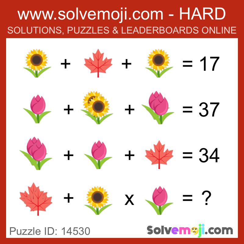 Solvemoji Emoji Math Puzzle 18815 | Matematika 3 | Matky