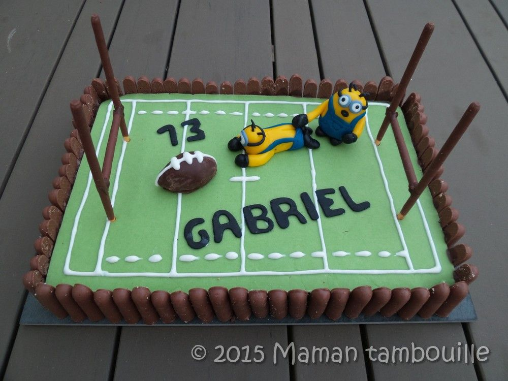 Bien connu Gâteau rugby des minions | Mes recettes | Pinterest | Rugby, Rugby  HT48