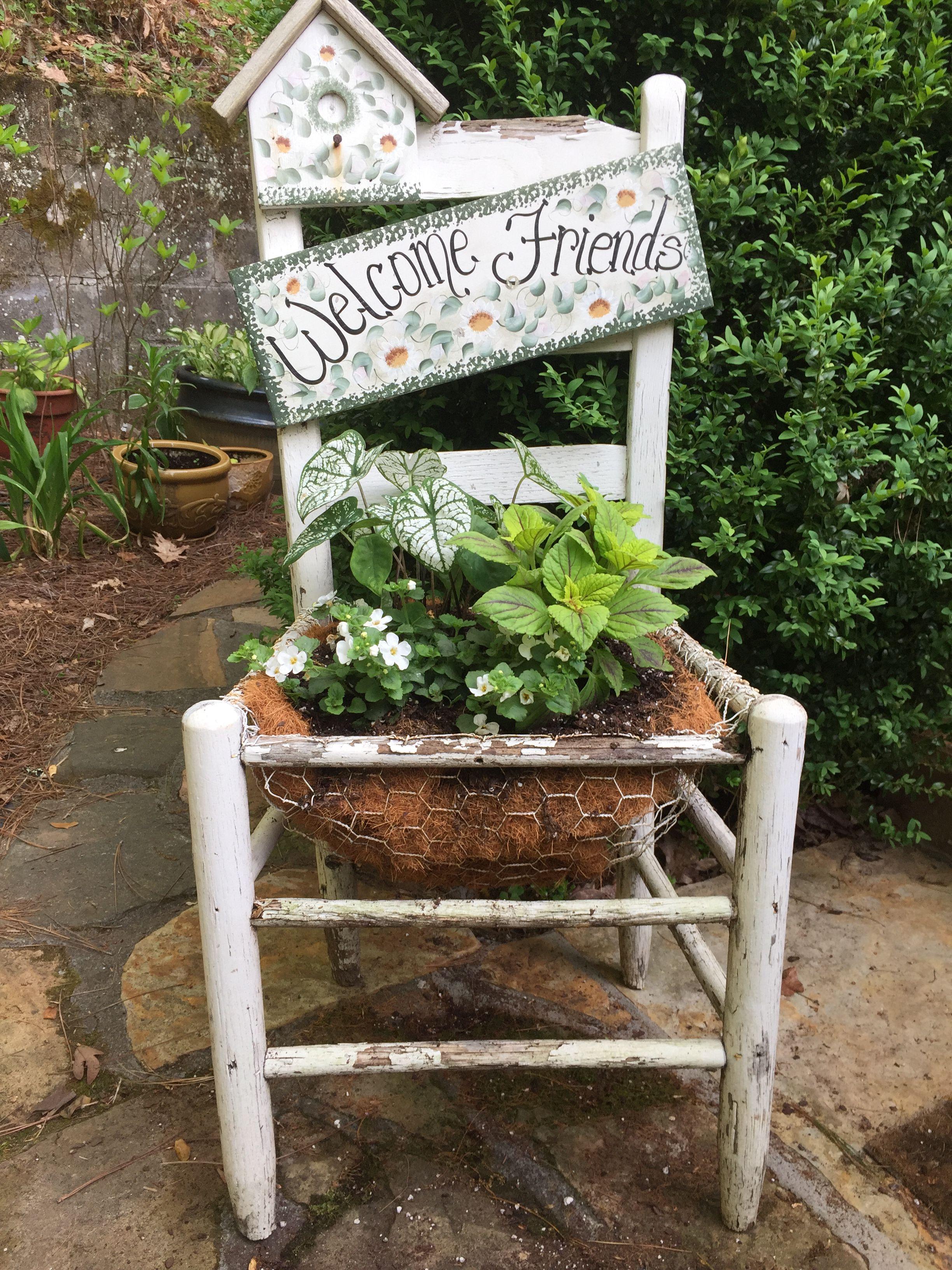 Chair Planter Chair Planter Amazing Gardens Planters Garden Ideas Yard Ideas