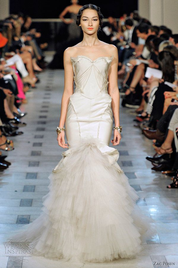 Zac Posen Spring 2012 Ready-to-Wear | Zac posen, Wedding dress and ...