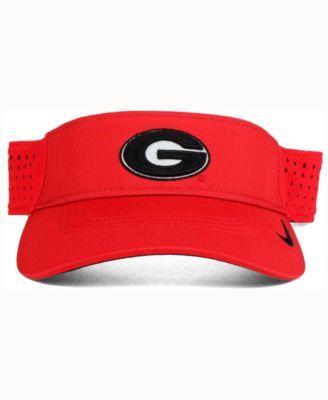 6d6da1b7 Nike Georgia Bulldogs Dri-fit Vapor Visor - Red Adjustable ...