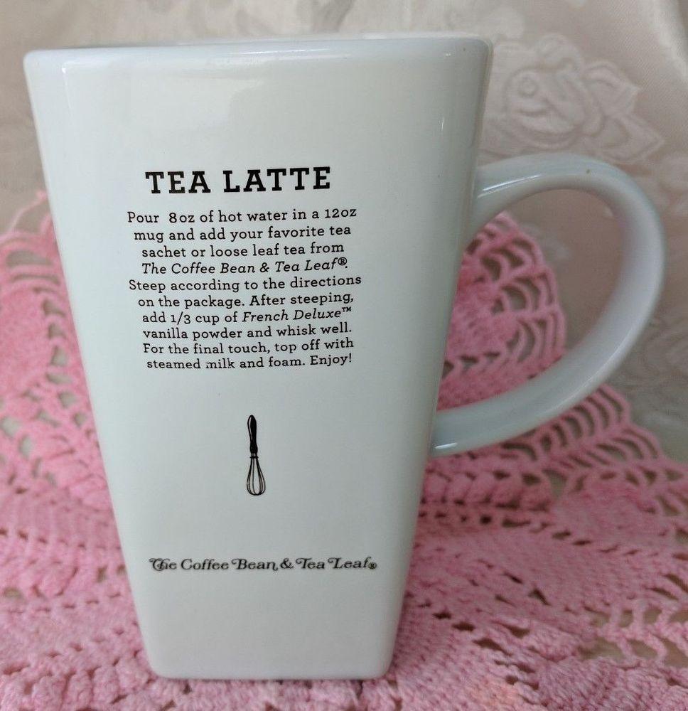 The Coffee Bean Tea Leaf Tea Latte Recipe Tall 5 1 2 And Oversized Mug Cup Thecoffeebeantealeaf Tea Latte Tea Latte Recipe Latte Recipe