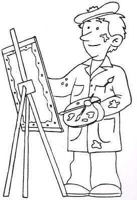 Pintor Cuadros Jpg Art Drawings For Kids Coloring Books Colouring Pages