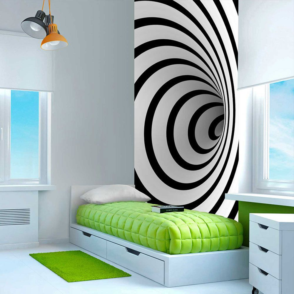 details zu fototapete 3d optik vlies tapete wandbild xxl wandtapete schwarz wei 100201 11. Black Bedroom Furniture Sets. Home Design Ideas