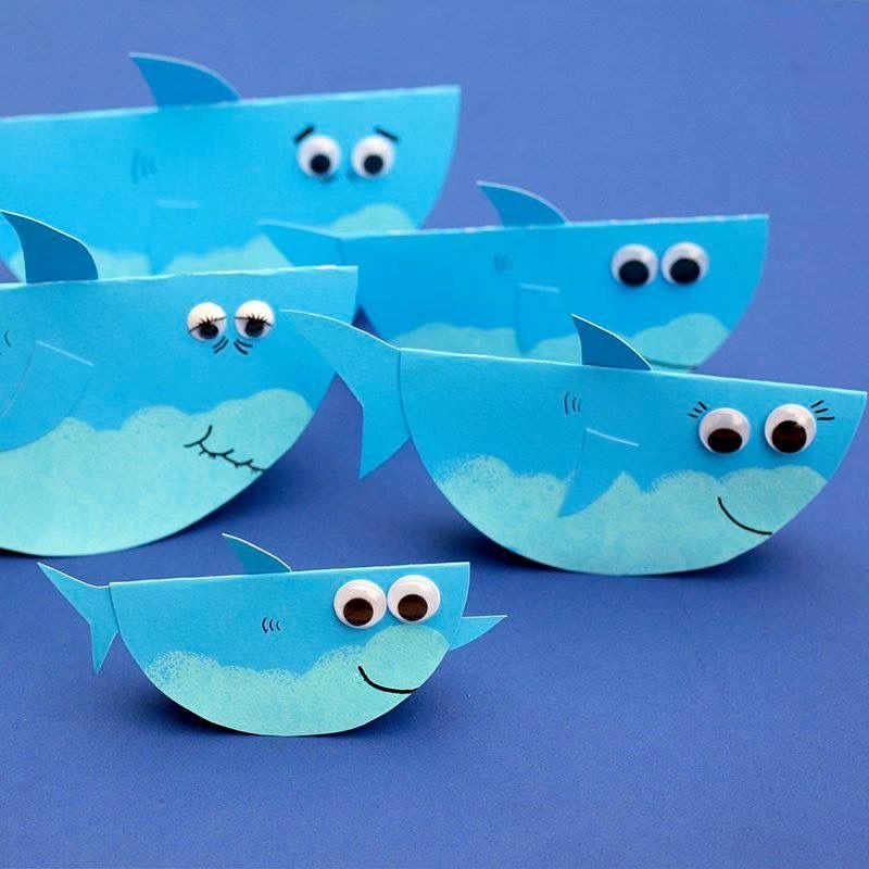 shark craft Shark craft Preschool crafts Preschool