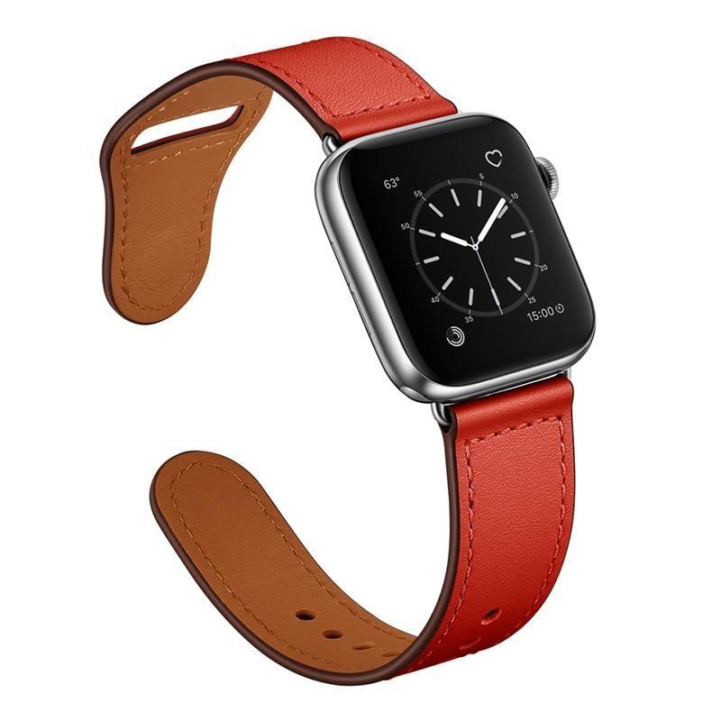 Photo of Echtlederarmband für Apple Watch – rot / 42mm oder 44mm