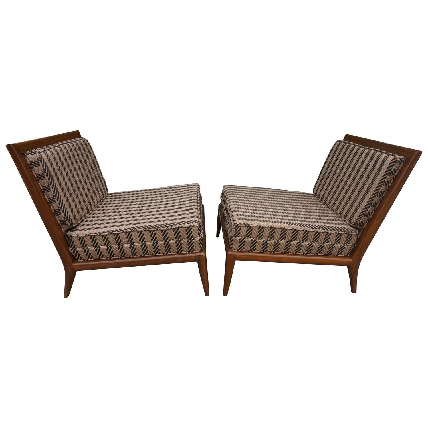 Swell Pair Of Robsjohn Gibbings Style Slipper Lounge Chairs Mid Theyellowbook Wood Chair Design Ideas Theyellowbookinfo