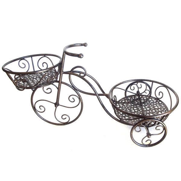 Metal Pot Holder Bike Garden Planter Bicycle Iron Ornament 64cm | Garden  Planters, Planters And Bicycling