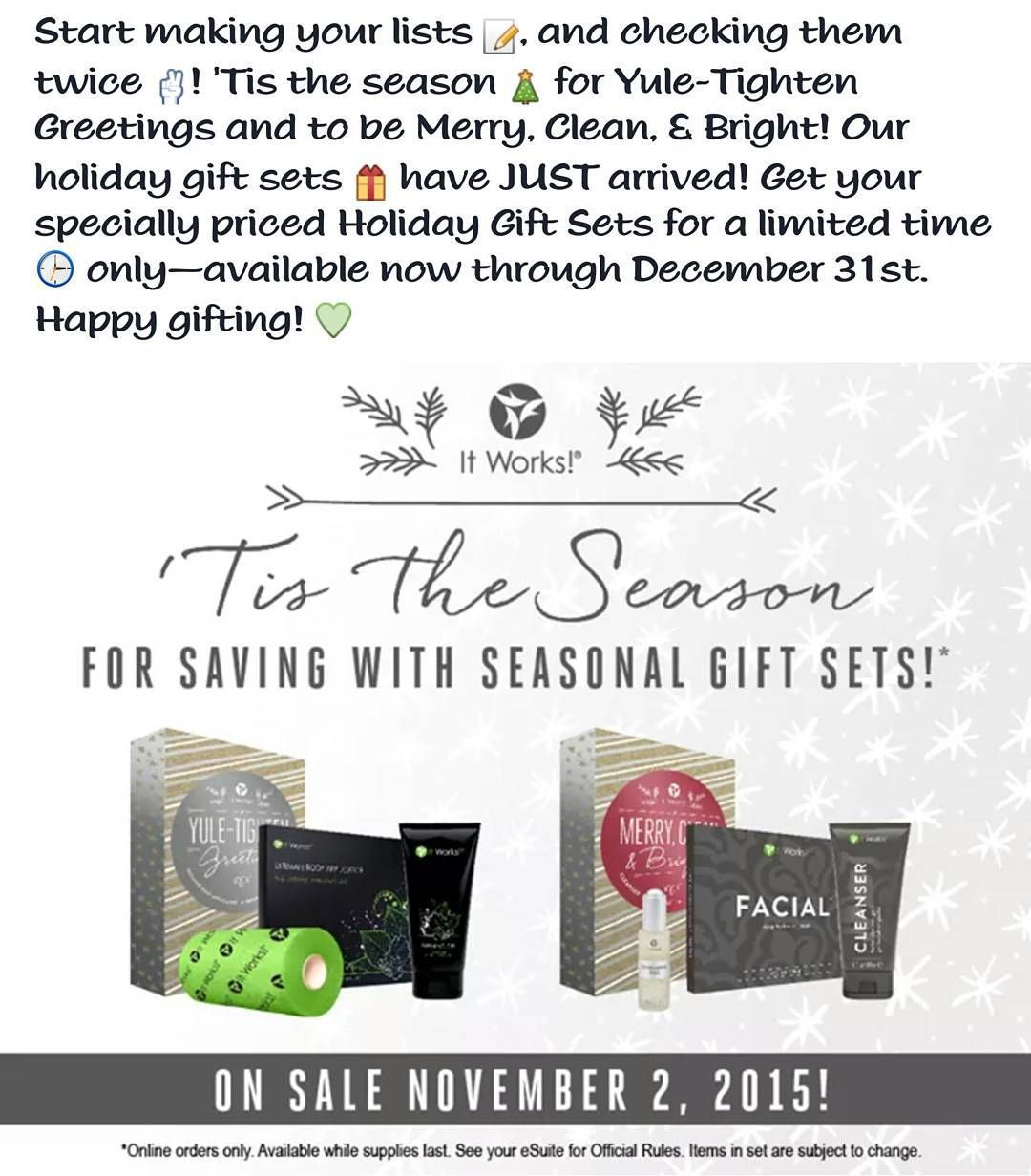 #getslimwithcasey #itworks #itworksglobal #itworksfamily #itworksadventure #itworksparty #joinitworks #jointhefamily #joinmyteam #joinmyfamily #jointhemovement #jointheadventure #joinme #joinus #joinnow #christmasiscoming #christmas #christmaspresents #gifts #presents #giftideas by morethanwraps