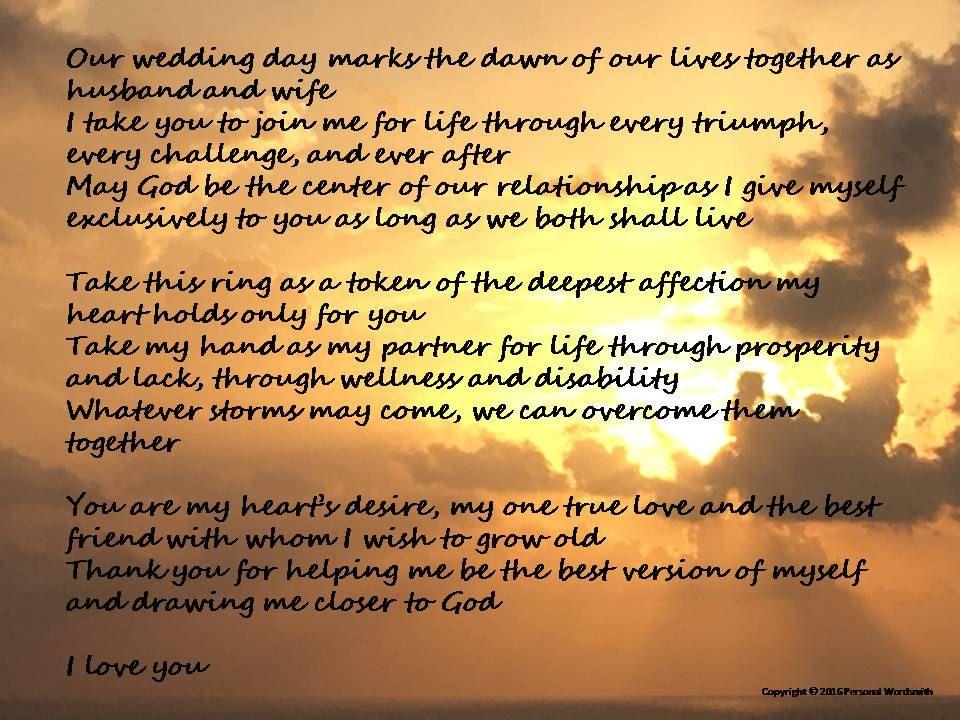 Marriage Poem Digital Print, Christian Wedding Vows