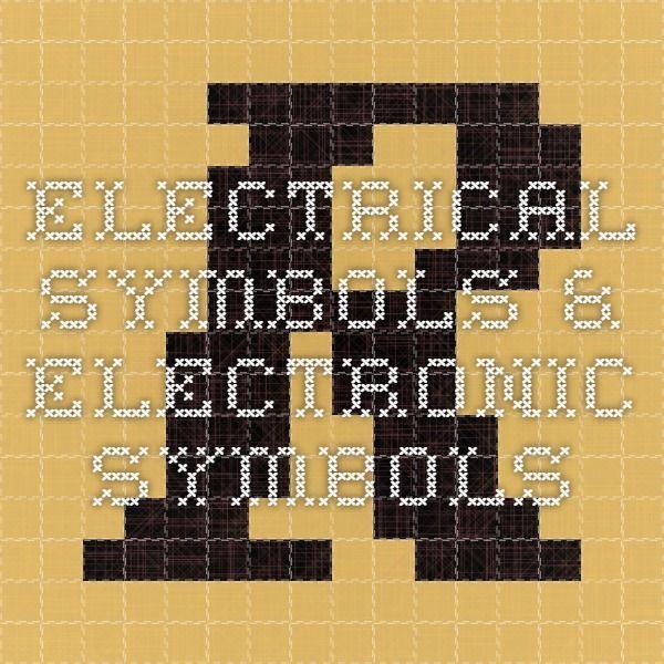 Electrical Symbols Electronic Symbols Rgb Color Codes Coding
