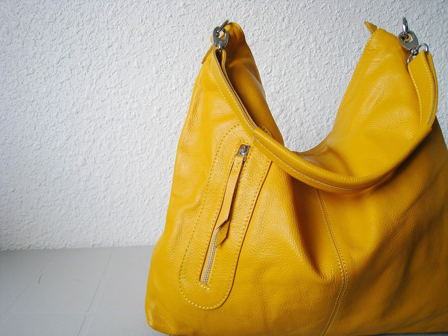 b50b9fc695 Love the color and the bag!!!!! Leather handbag yellow leather purse ...