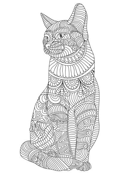 Pingl par dawn royse sur adult coloring coloriage chat dessin a colorier et dessin adulte - Chat a colorier adulte ...