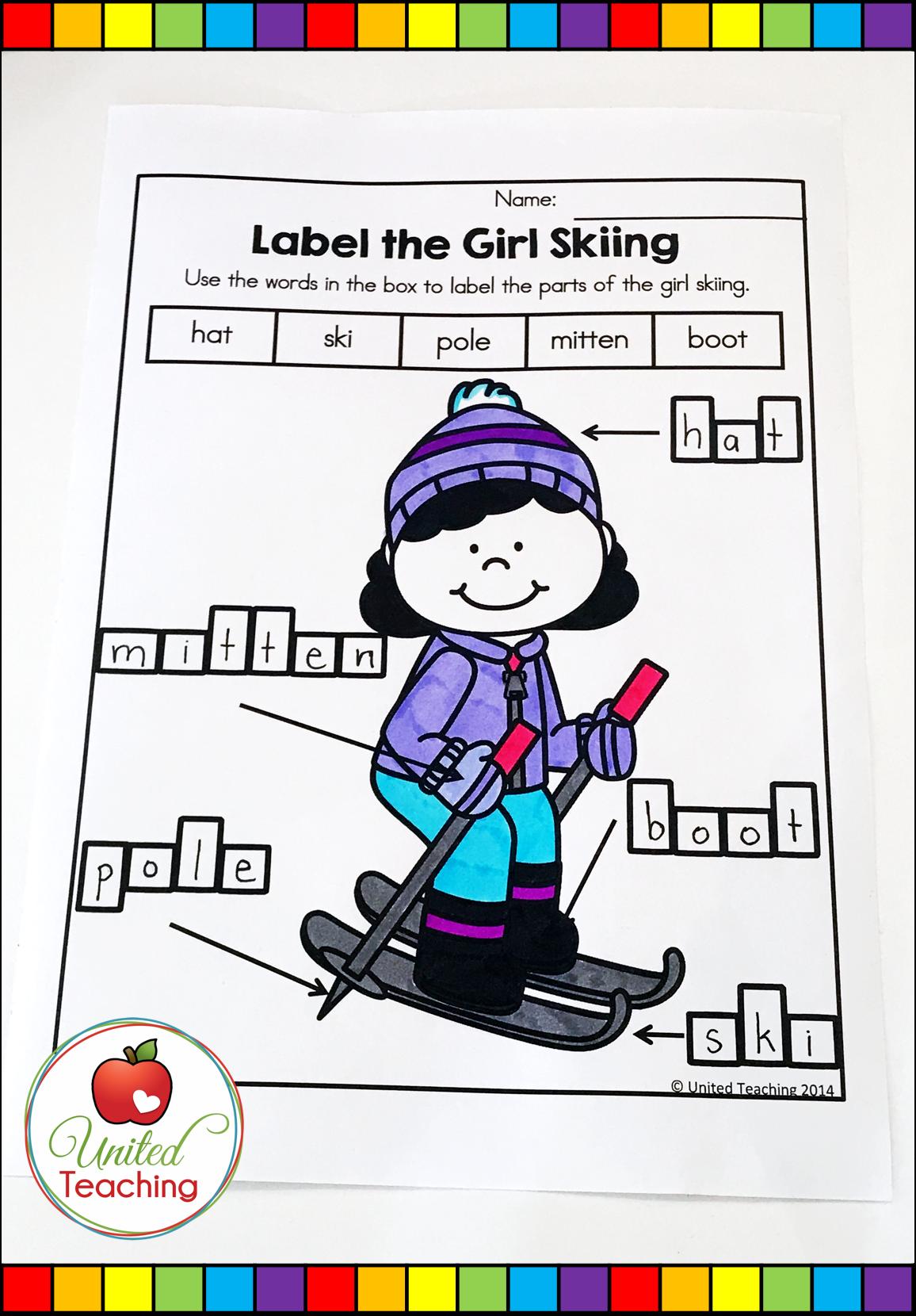 Winter Literacy Worksheets 1st Grade