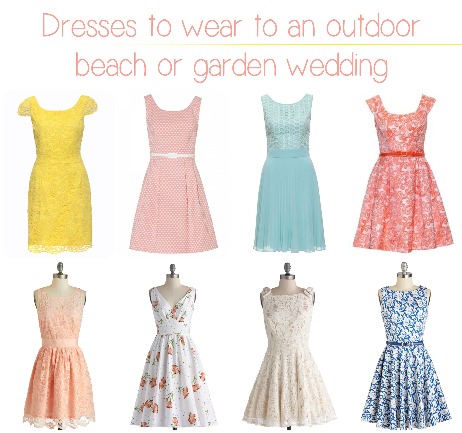 Wonderful dresses to wear to a beach wedding guest and for Garden wedding dresses guest