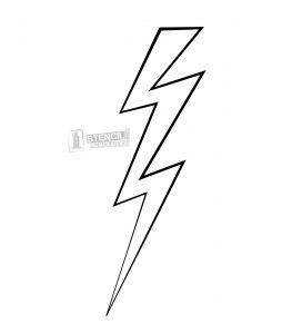 Lightning Bolt Stencil Stencils Print Triangle Tattoo