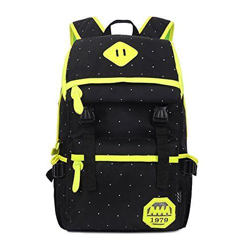 Artone Unisex Water Resistant Oxford Fashion Dots Laptop Backpack School Daypack With Laptop Compartment Black Artone http://www.amazon.com/dp/B00Y1ZIEUS/ref=cm_sw_r_pi_dp_-KQfwb16WRW29
