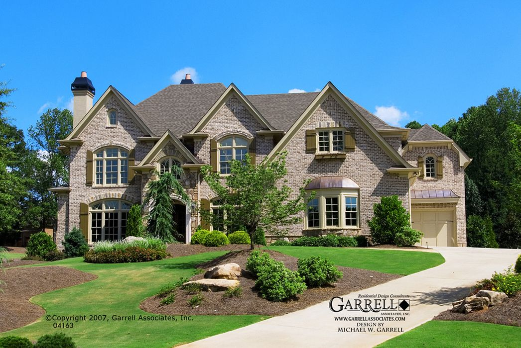 Garrell Associates IncSouth Hampton Manor House Plan Front Elevation French Style Plans Traditional Design By Michael W