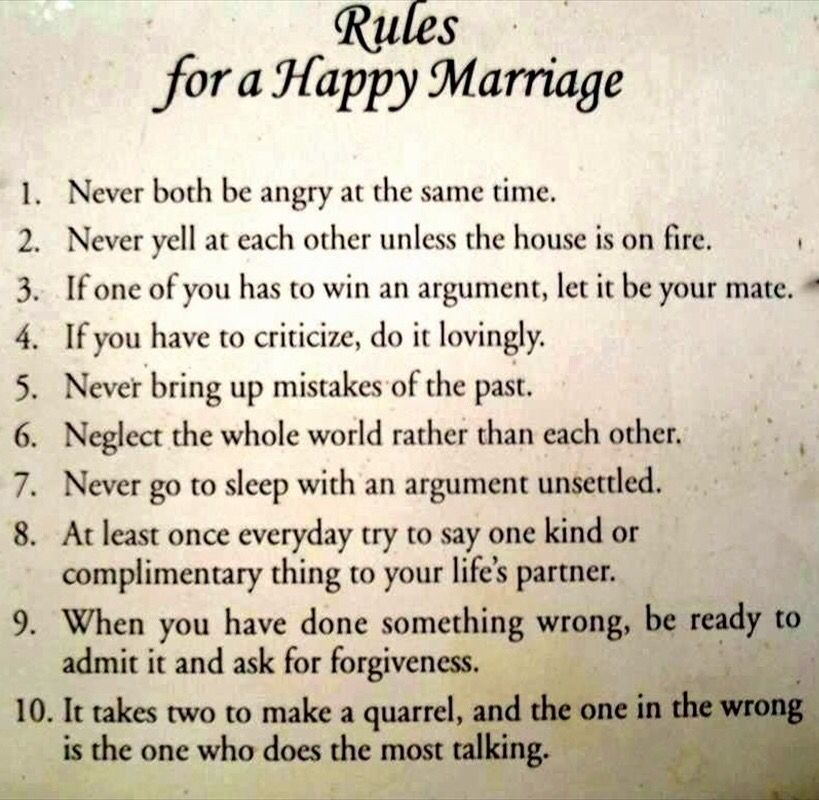 Rules For A Happy Marriage Newlywed Quotes Marriage Quotes Funny Wedding Quotes Funny