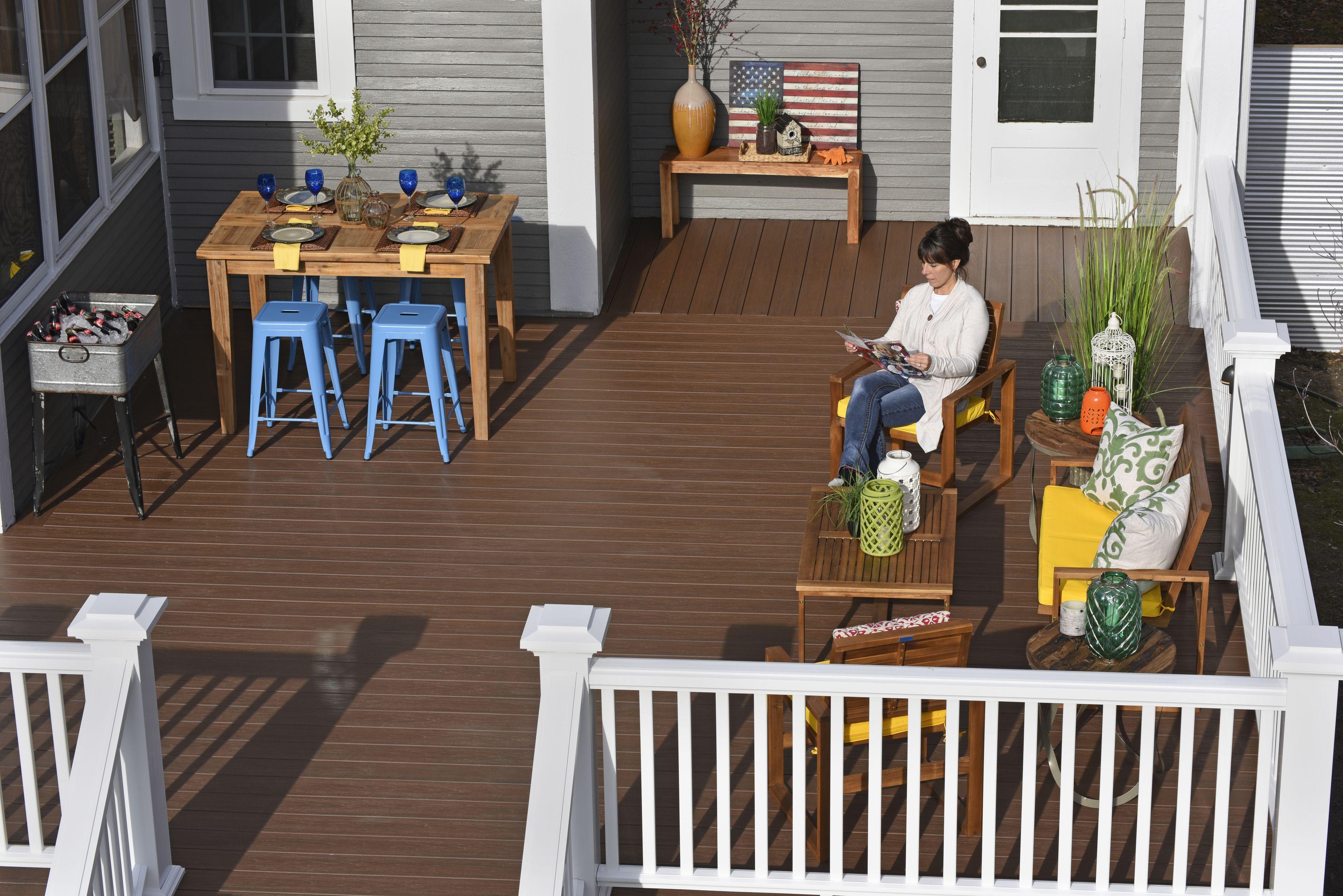 Deck makeover after shot timbertech tropical collection deck in deck makeover after shot timbertech tropical collection deck in antique palm baanklon Images