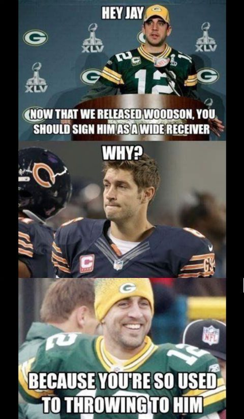 Heres The Charles Woodson To The Chicago Bears Meme