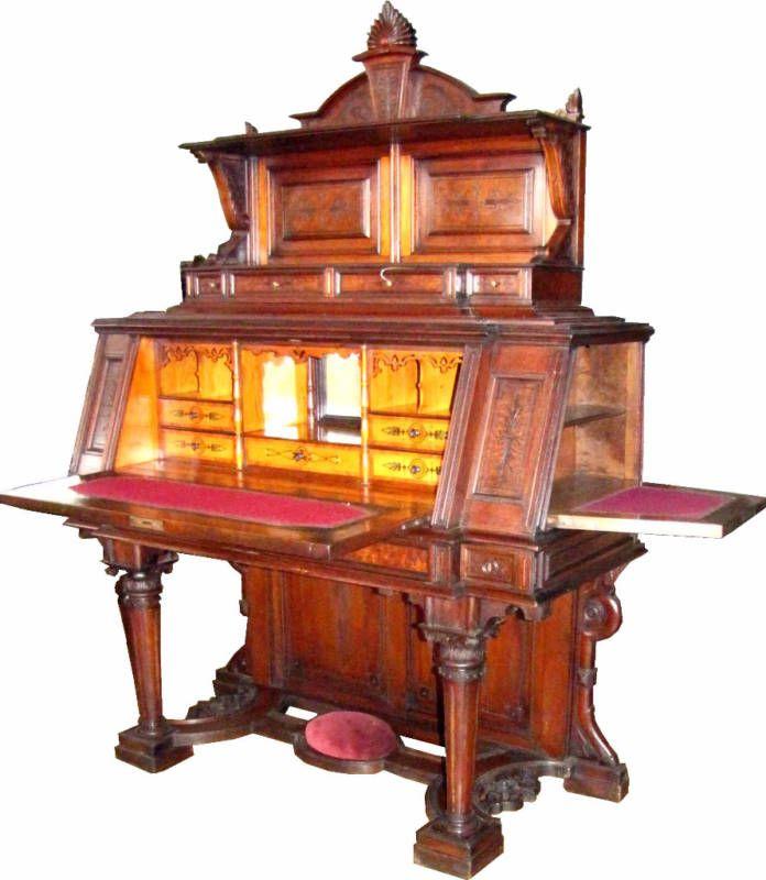 Antique Desk With Hidden Compartments Secret Spaces