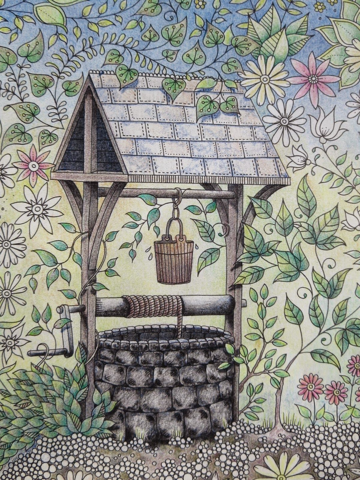 Passion for Pencils: My Secret Garden Colouring book, The Well part ...