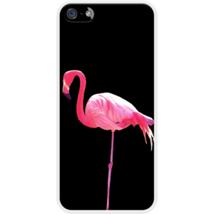Pink Flamingo - black Par WAM pour Apple  iPhone 5