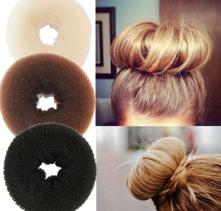 Coiffure Facile A Faire En 50 Idees Cheveux Longs Et Mi Longs Coiffure Facile A Faire Coiffure Facile Chignon Avec Donut