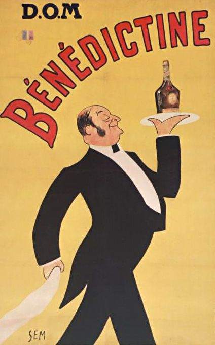 Sem - Affiche - Bénédictine - D.O.M - Deo Optimo Maximo (à Dieu, le Meilleur, le plus Grand) - 1910