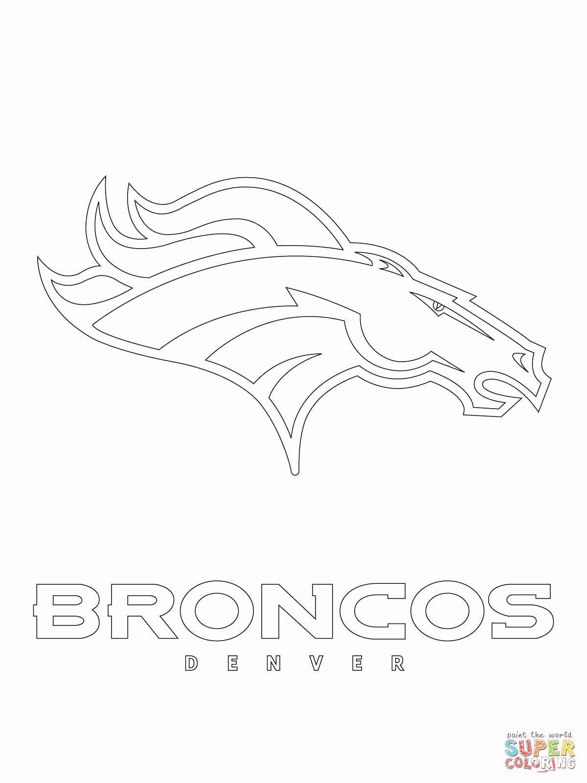 Denver Broncos Coloring Page New Denver Broncos Logo Coloring Page In 2020 Broncos Logo Denver Broncos Broncos