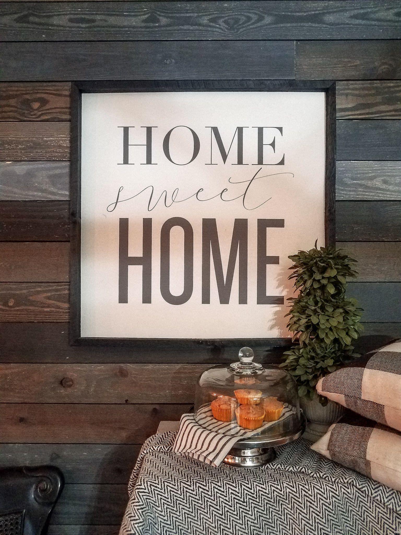 Loving my homesweethome handpainted sign homedecor etsy white black home