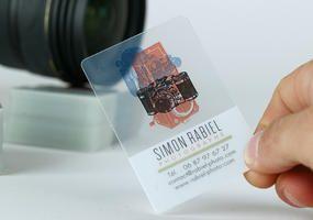 Cartes De Visite PVC Transparentes A Partir 250 Ex