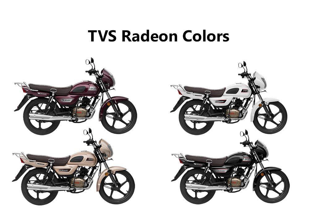 Tvs Radeon Colors White Black Beige And Purple Purple Bike