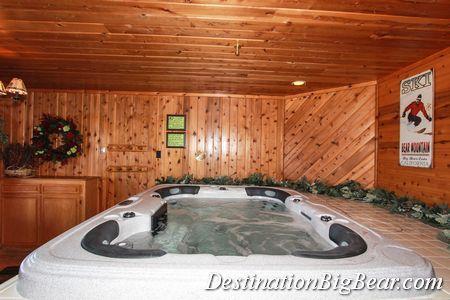 Big Bear Cabins Photos Big Bear Cabin Indoor Hot Tub Hot Tub