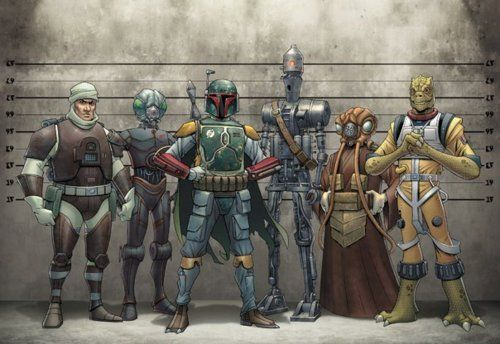 The Bounty Hunter Lineup - so, do we know is zuckuss actually 4-lom and vice versa?