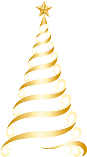 Transparent Golden Deco Tree PNG Clipart
