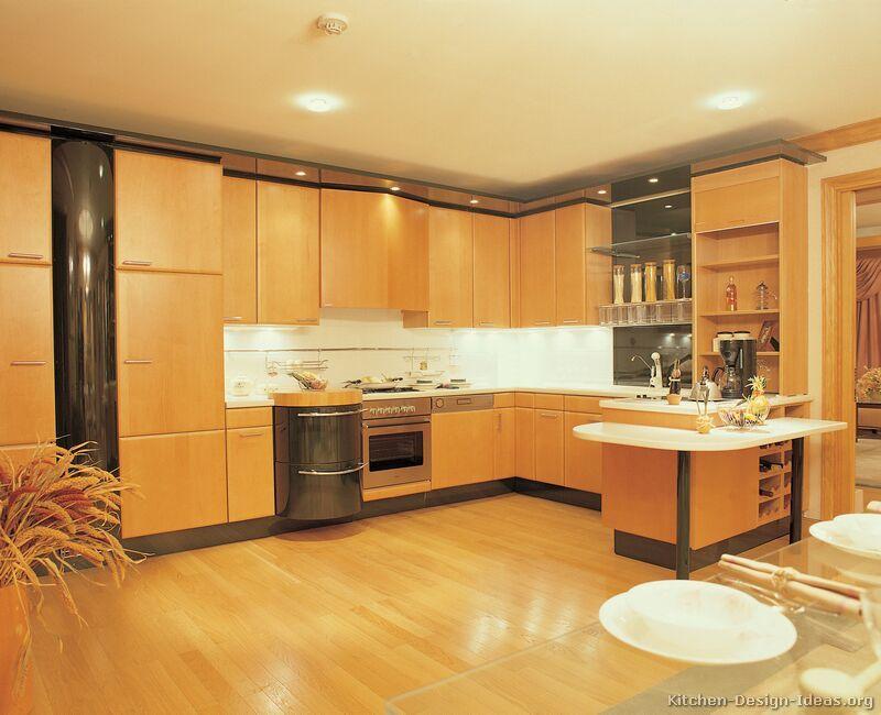 Kitchen Peninsula Ideas | ... of Kitchens - Modern - Two-Tone Kitchen Cabinets (Kitchen #10