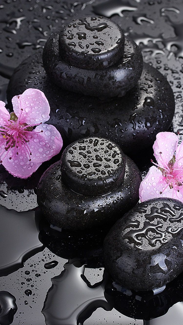 TAP AND GET FREE APP ⬆️ Flowers and black stones stylish