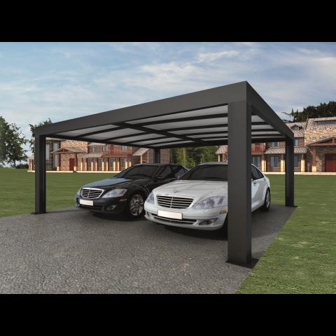 Kob Carport Cubus Dobbelt 5 5x5 8x2 4 M Genua Online Hos Bauhaus Vi Har Altid Den Rigtige Pris Ca Pergola Para Garaje Techo Para Cochera Techos Para Autos