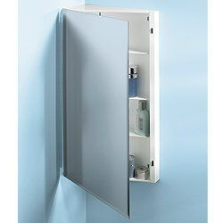 """NuTone 867P30WHX White Single Door Corner Medicine Cabinet with Two Fixed Shelves by Nutone. $179.12. NuTone 867P30X Framed White Medicine Cabinet Single Door Single Door Corner Cabinet Model 867P30Ch Mounting: Surface Overall Size: 16"""" X 30"""" X 8"""" Beveled Edge Exterior Mirror Painted Steel Body With Chrome Trim 2 Fixed Shelves"""
