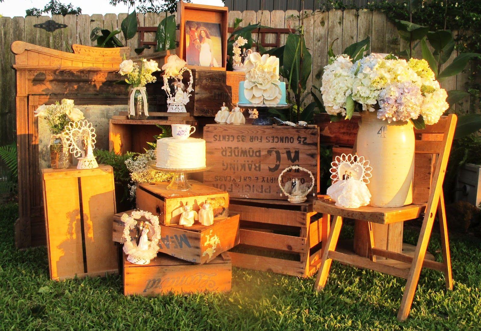 not so shabby a vintage backyard wedding weddings pinterest