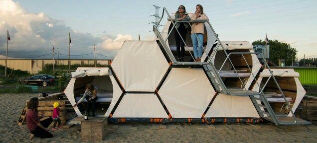 Honeycomb tents!