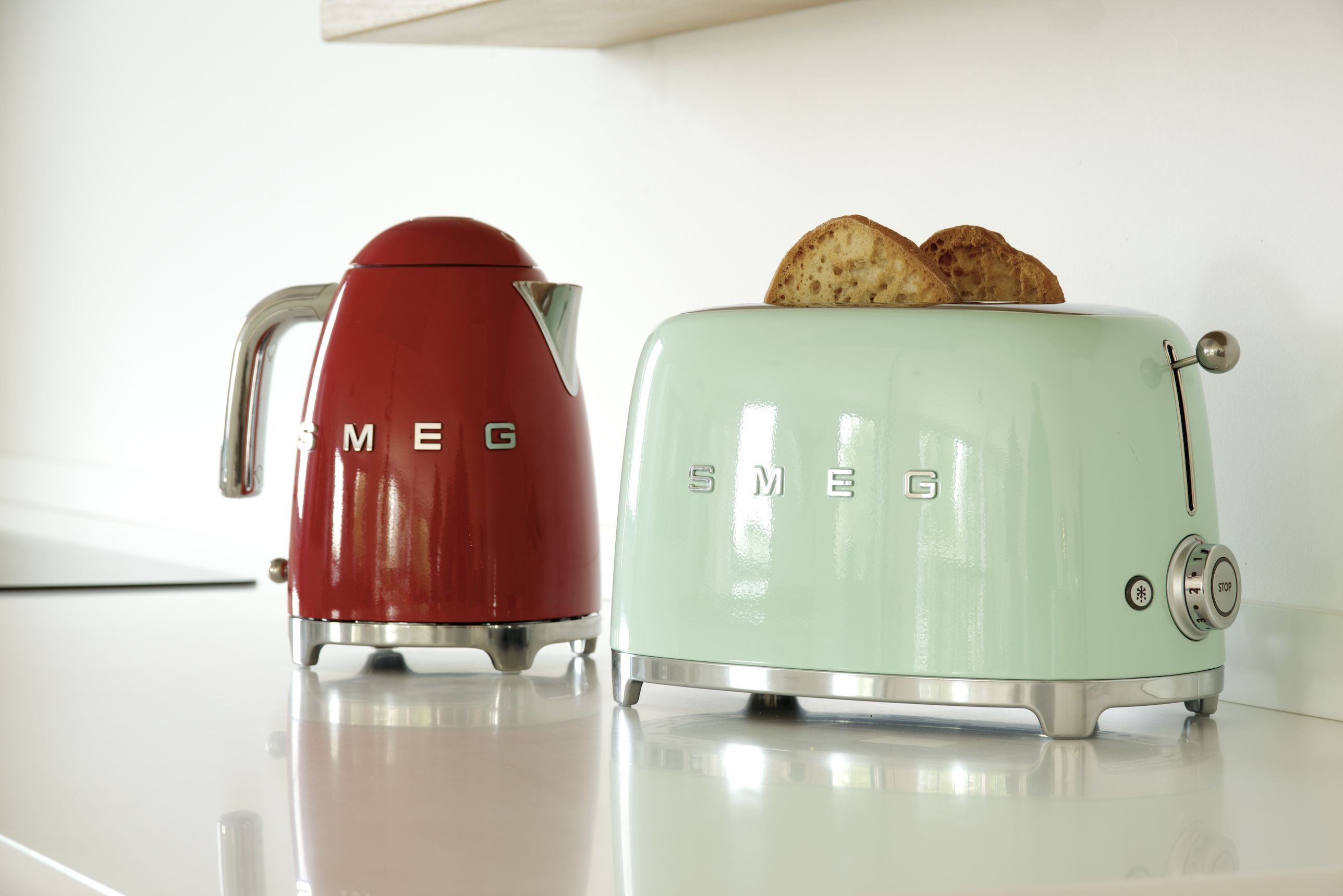 Smeg Kühlschrank Pastel : West elm smeg toaster 2 slice cream kitchen appliances