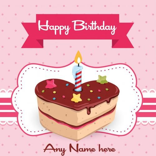 Write Name On Happy Birthday Wishes Your Lover Greeting Card With