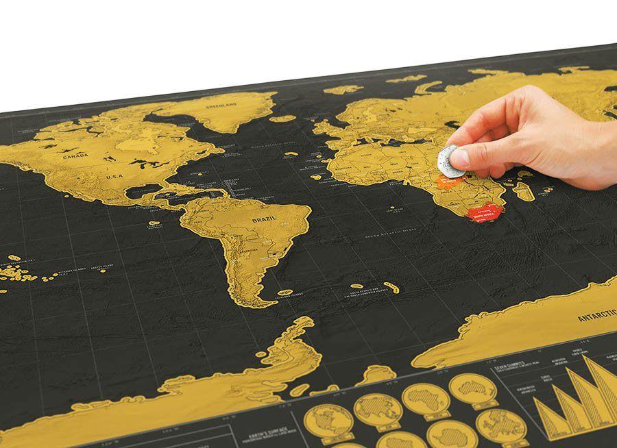 Cadouri barbati harta razuibila deluxe idei de cadouri pentru luxury travel edition scratch off world map poster personalized journal log size gumiabroncs Gallery