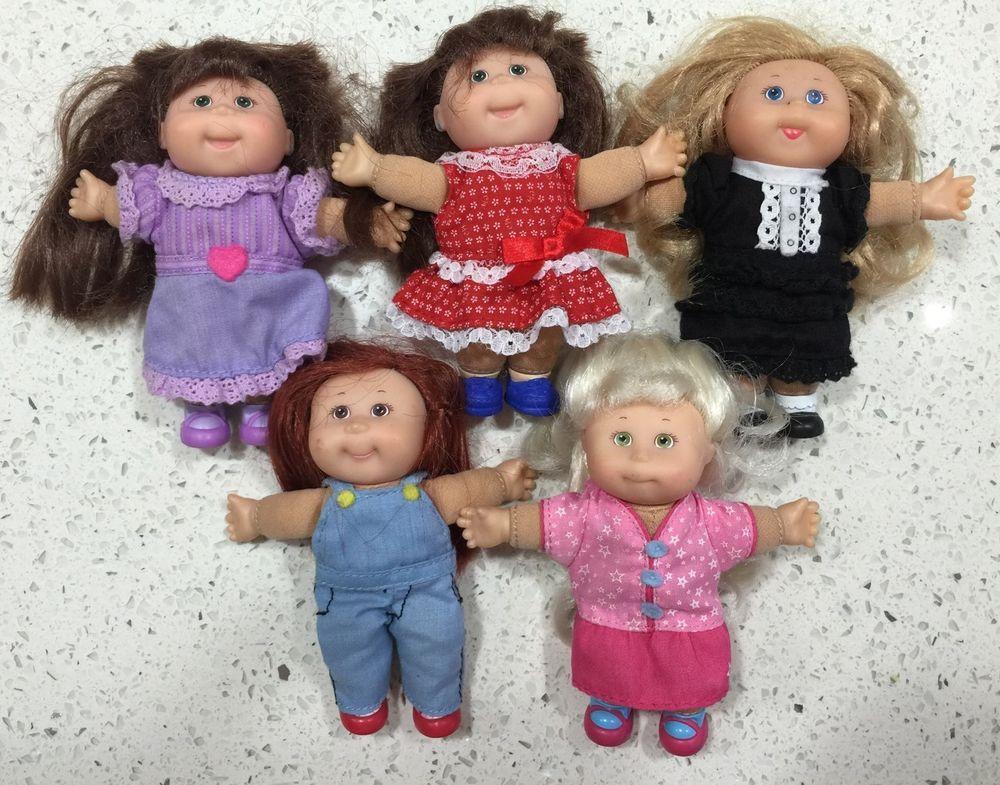 "~♥~ Mini Cabbage Patch Bulk x 5~♥~ Vintage Doll 5"""